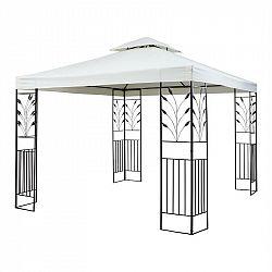 Blumfeldt Odeon Beige, zahradní pavilon, altán, 3 x 3 m, ocel, polyester, světle béžový