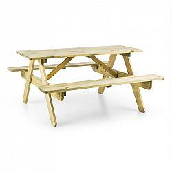 Blumfeldt Picknickerchen, dětský piknikový stůl, hrací stůl, pravé borovicové dřevo