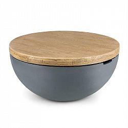 Blumfeldt Port Blockhouse Lounge, betonový stůl, zahradní stůl, kulatý, 80 x 40 cm (Ø x V)