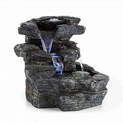Blumfeldt Rochester Falls, zahradní fontána, IPX8, 6 W, polyresin, 3 LED diody, kamenný vzhled