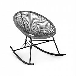 Blumfeldt Roquetas Chair, houpací křeslo, retro design, 4 mm pletivo, šedé