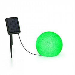 Blumfeldt Shinestone Solar 30, kulová lampa, solární panel, Ø 20 cm, RGB-LED, IP68, akumulátor