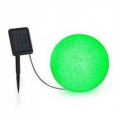 Blumfeldt Shinestone Solar 30, kulová lampa, solární panel, Ø 30 cm, RGB-LED, IP68, akumulátor