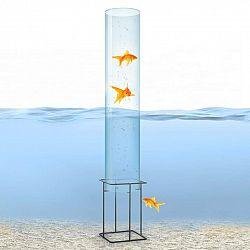 Blumfeldt Skydive 100, pozorovatelna ryb, 100 cm, Ø 20 cm, akryl, kov, transparentní