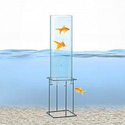 Blumfeldt Skydive 60, pozorovatelna ryb, 60 cm, Ø 20 cm, akryl, kov, transparentní