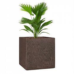 Blumfeldt Solid Grow Rust, květináč, 40 x 41 x 40 cm, fibreclay, rezavá barva