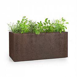 Blumfeldt Solid Grow Rust, květináč, 80 x 38 x 38 cm, fibreclay, rezavá barva