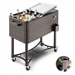 Blumfeldt Springbreak 2000, vozík na nápoje, chladící vozík na terasy, 80 l, ratanový design