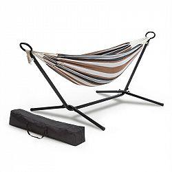 Blumfeldt Sri Lanka Swing, houpací síť, ocelový rám, nosnost 160 kg, proužek
