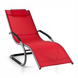 Blumfeldt Sunwave, zahradní lehátko, houpací lehátko, relax, hliník, červené