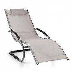 Blumfeldt Sunwave, zahradní lehátko, houpací lehátko, relax, hliník, šedé