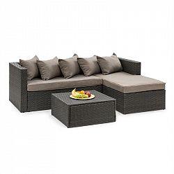 Blumfeldt Theia Lounge set zahradní sedací souprava, černá / hnědá