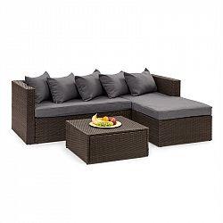 Blumfeldt Theia Lounge set zahradní sedací souprava, hnědá / tmavě šedá