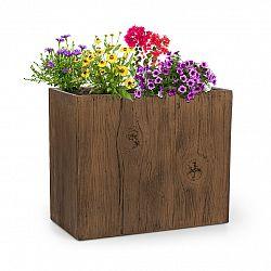 Blumfeldt Timberflor, květináč, 60 x 50 x 30 cm, sklolaminát, do interiéru i exteriéru, hnědý