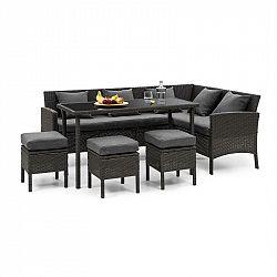 Blumfeldt Titania Dining Lounge set zahradní sedací souprava, černá / tmavě šedá