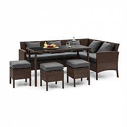 Blumfeldt Titania Dining Lounge set zahradní sedací souprava, hnědá / tmavě šedá
