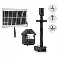 Blumfeldt Wasserwerk 500, vodní čerpadlo, solární, fontána, 500 l/h, LED, akumulátor