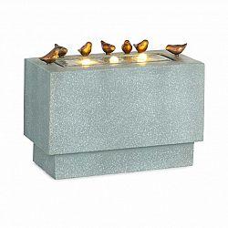 Blumfeldt Waterbirds, zahradní fontána, LED, 60 x 47 x 30 cm, cement, hliník, šedá
