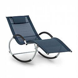 Blumfeldt Westwood Rocking Chair, houpací lehátko, ergonomické, hliníkový rám, tmavomodré