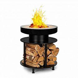 Blumfeldt Wood Stock, ohniště 2 v 1, BBQ gril, ø56cm, ušlechtilá ocel, černé