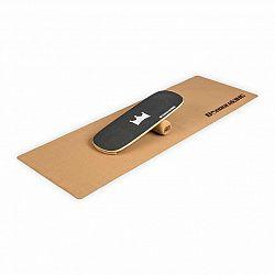BoarderKING Indoorboard Classic, balanční deska, podložka, válec, dřevo/korek, černá