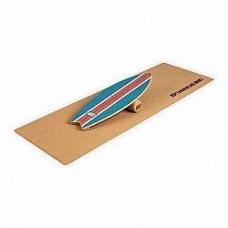 BoarderKING Indoorboard Wave, balanční deska, podložka, válec, dřevo/korek, modrá