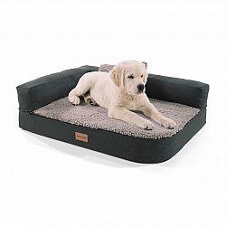 Brunolie Odin, pelíšek pro psa, psí podložka, pratelný, ortopedický, protiskluzový, prodyšný, paměťová pěna, velikost S (80 x 10 x 60 cm)