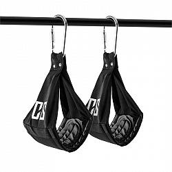 Capital Sports Armlug Ab Slings, max. 120 kg, černá, tréninkové ramenní opěrky, karabinové háky