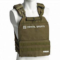 Capital Sports Battlevest 2.0, zátěžová vesta, 2 x 2 závaží 2,6 & 4,0 kg, olivově zelená