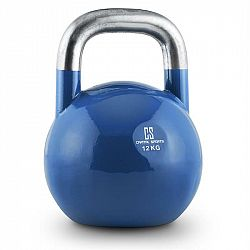Capital Sports Compket 12,modrá činka kettlebell 12 kg, kulové závaží