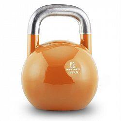 Capital Sports Compket 28, oranžová činka kettlebell 28 kg, kulové závaží