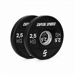Capital Sports Elongate 2020, kotouče, 2 x 2,5 kg, tvrdá guma, 50,4 mm