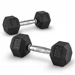 Capital Sports Hexbell 5, 5 kg, dvojice jednoruční činek (Dumbbell)