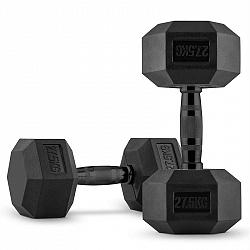Capital Sports Hexbell, pár jednoručních činek, 2x 27.5 kg, černé