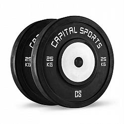 Capital Sports Inval, soutěžní bumper kotouče, 50 mm, hliníkové jádro, 2x 25 kg