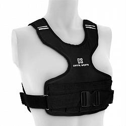 Capital Sports Medusa, zátěžová vesta, 5 kg, 1200D, nylonové vlákno, hrudní pás, černá