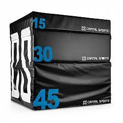 Capital Sports Rooks Set Soft Jump Box, plyobox, černý, 15/30/45 cm, 3 kusy