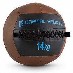 Capital Sports Wallba 14, hnědý Wall Ball (medicinbal) z umělé kůže 14 kg