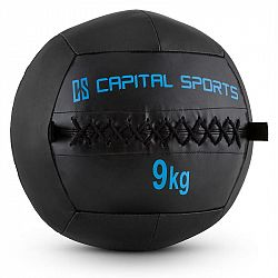Capital Sports Wallba 9, černý Wall Ball (medicinbal) z umělé kůže 9 kg