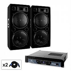 """DJ PA set Malone 2.0 """"Bass"""" se zesilovačem, 2x reproduktory"""