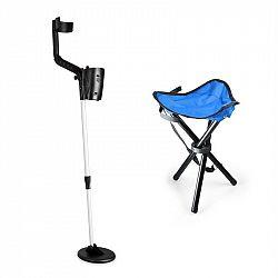 DURAMAXX Basic Blue, sada na hledání pokladů, detektor kovů + kempovací stolička, 16,5 cm sonda