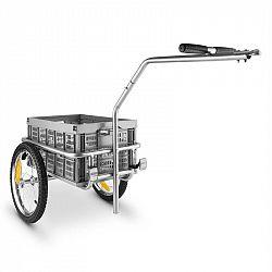 DURAMAXX BigBig Box, 40 l, 40 kg, přívěs na kolo, ruční vozík, vysoká oj, šedý