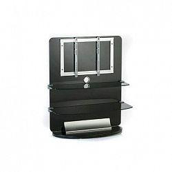 Electronic-Star avS12-Black, TV stůl, sklo, 2 patra, LCD držák, rack, černý