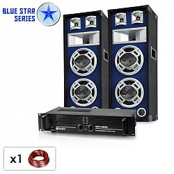 "Electronic-Star ""Bassboom"", 1600 W, PA set ze série Blue Star"