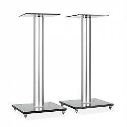 Electronic-Star BS58, dvojice designových reproduktorových stojanů, sklo, hliník