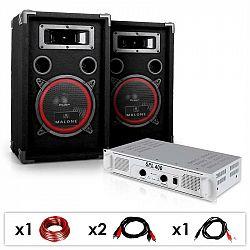 Electronic-Star DJ-15, DJ PA set, PA zosilňovač, reproduktory, 1000 W