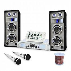 Electronic-Star DJ set Polar Bear, mix pult, zesilovač, reproduktory, 2200W