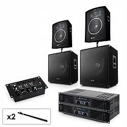 Electronic-Star Sada 2.2 PA systému s 2x zesilovačem, 2x 15