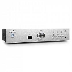 Hi-fi zesilovač Auna AV2-CD508BT, stříbrný, AUX, bluetooth