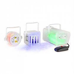 Ibiza CLEAR-PACK, sada světelných efektů, Firefly laser, Derby LED, mlhovač 400 W